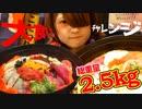 大食いYouTuberの登竜門2.5キロの海鮮丼15分で食べきれば無料に挑戦【失敗自腹】