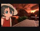 かばんちゃんのVR Chatわーるど訪問(10) 誰もいない水没した町と美しい夕焼け