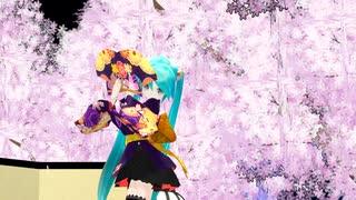 【MMD】 振袖ミニあぴミクで ♪ 夢と葉桜 ♪ [1080P60fps]