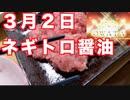 3月2日 本日の食事 日本のネギトロ醤油 March 2 Today's Meal Japanese Negitro Soy Sauce