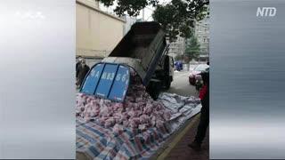 ごみ収集車で食材配送 ・ 衛生観念はゼロかマイナス