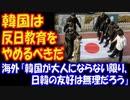 【海外の反応】 「韓国は 反日教育を やめるべきだ」 日韓の 関係改善のために 海外から まっとうな意見 多数!