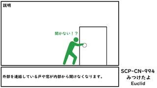 【削除済】【ゆっくり紹介】SCP-CN-994 【みつけたよ】