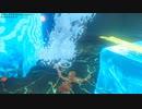 依頼を受けて、シェモ・ラタの祠の上昇する水位に氷柱を埋めてみた