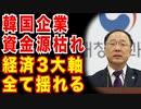 韓国企業ついに資金源枯渇!!経済3大軸大崩壊!!