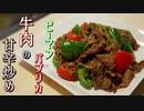 【糖質制限ダイエット】パプリカピーマンと牛肉の甘辛炒め【低糖質】簡単料理ASMR