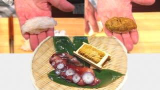 【握ってみた】ミズタコとウニの握り寿司