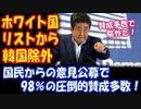 【海外の反応】 韓国を ホワイト国から 除外することに 日本国民 圧倒的 賛成 多数!