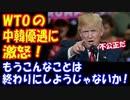 【海外の反応】トランプ大統領が 中韓の『途上国優遇』を巡り WTOに激怒!「優遇措置をやめろ」