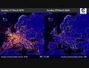 武漢ウイルス検疫空港閉鎖で旅客機が飛ばない欧州の空...去年との比較