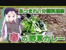 【あつまれ!1分弱料理祭】イタコ姉さんと野草カレー【カレー】