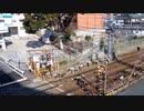 阪急電鉄・阪急六甲駅 特急高速通過・各駅停車・2016年1月31日