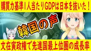 【韓国の反応】文在寅政権のお陰で、先進国最上位圏の成長率を誇った韓国。購買力基準1人当たりGDPは日本を抜いた!【世界の〇〇にゅーす】【youtubeは不適切&削除済】