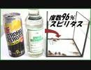 アルコール度数96%の「スピリタス」をゴキブリに与えたら・・・。