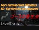 Bloodborne Any%RTA 最新パッチバグなしNG+ゴースの寄生虫チャート 60分43秒
