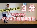 【3分】家でできるダンス系有酸素運動②【背中の肉をとる?】