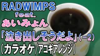 【ニコカラ】RADWIMPS feat.あいみょん「泣き出しそうだよ」【アコギアレンジ】