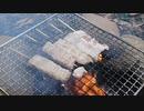 【野外飯】豚バラ串を焚き火で焼いてかぶりつく!その時班長がまさかの行動に!?