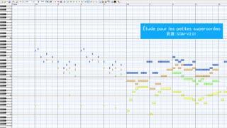 【無料音源で再現】Étude pours les petites supercordes【MIDI】