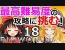 #18 苛烈な惑星遭難サバイバルゲームの最高難易度に挑戦! 【RimWorld 1.1 ゆっくり実況】リムワールド pcゲーム steam