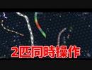 【実況】2 画 面 ス リ ザ リ オ【slither.io】