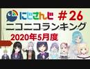 にじさんじニコニコランキング #26 2020年5月度