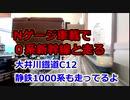 Nゲージ車載 0系新幹線と走る 大井川鐡道C12と静鉄1000系も走ってるよ