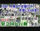 【草莽崛起】6.12 自由・人権より金儲けか!香港に自由を!財政出動100兆円!消費税ゼロ!緊急国民行動 [R2/6/15]
