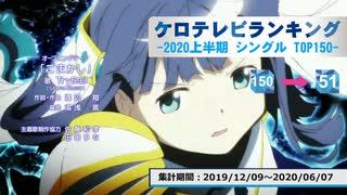 上半期アニソンランキング 2020年シングル 150-51【ケロテレビランキング】
