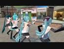 【MMD】Girls 背中見せミクさんsのカモメ町ストリートライブ
