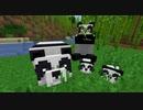 【マイクラ】竹林でパンダ発見!のんびり観察♪