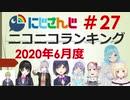 にじさんじニコニコランキング #27 2020年6月度