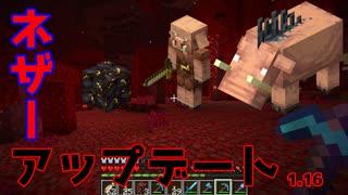 【マイクラ】アップデート後の新ネザー探索!赤い森と豚の城【初心者クラフト】Part53