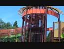 【亀山サンシャインパーク】キッズランドのお城のような大型アスレチックに挑戦するあい❤すべり台www