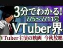 【7/5~7/11】3分でわかる!今週のVTuber界【佐藤ホームズの調査レポート】
