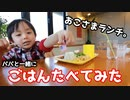 【パパと一緒に】ごはん食べてみた【お子様ランチ】