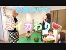 【色々あったけど】夏だししばなんファミリーで初めてのスイカ割りをしたよー!!□ - しばなんチャンネル
