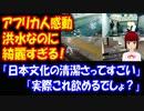 【海外の反応】日本の洪水は きれい過ぎる! アフリカ人たちが 超感動!