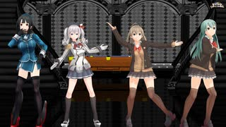 【MMD 艦これ】 巡洋娘4人で♪Sweet Devil Colate Remix♪ [1080P60fps]