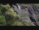 竜門ダムに現れる「幻の滝」(2020年8月12日)