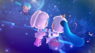 【MMD】星のワルツver.2:牛と兎と猫(ふわふわぬいぐるみ初音ミク)