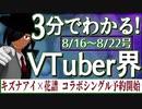 【8/16~8/22】3分でわかる!今週のVTuber界【佐藤ホームズの調査レポート】