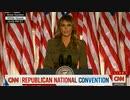 共和党大会:メラニア・トランプ大統領夫人がローズガーデンで演説