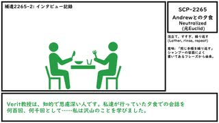 【ゆっくり紹介】SCP-2265【Andrewとの夕食】