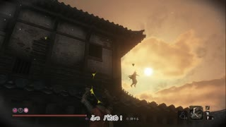 【SEKIRO】内府忍者襲来後の葦名城屋根上でゆるく遊んでみた