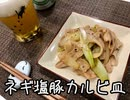 【本日の肉つまみ】#15 ネギ塩豚カルビ皿