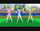 【MMD】チアリーダーネギトログミでハイファイレイヴァー(PART2)【カメラ固定・字幕無】(1080p_60fps)