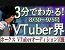 【8/30~9/5】3分でわかる!今週のVTuber界【佐藤ホームズの調査レポート】