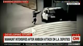 LA警察のパトカーに向け発砲...二人の警官が撃たれて重体に