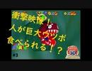 衝撃映像!マリオ、巨大ウツボに食べられる!#3【スーパーマリオ64】